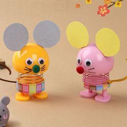 스프링생쥐인형만들기(4개)쥐모양움직이는노호혼
