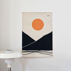 태양 일러스트 패브릭 포스터.가리개커튼 (M 사이즈)