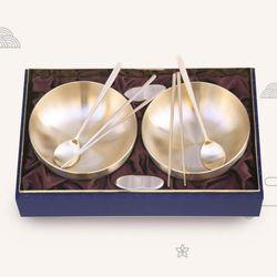 호담 K3744RA 방짜유기 면기 선물세트 3호