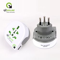 [Q2 Power] World to Swiss with USB 250V 10A