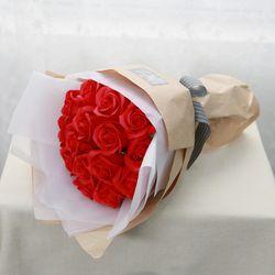 꽃다발 입학 졸업 기념일 선물 조화장미 15송이비누장미꽃다발