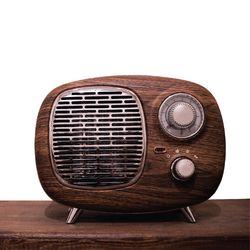 페나 라디오 히터 레트로 PTC  온풍기(우드스페셜)