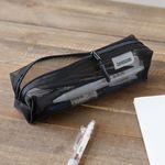 단순생활 메쉬 파우치 펜 케이스 블랙