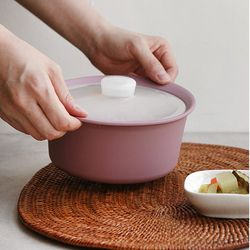 실리콘 전자렌지용 냄비 용기 그릇(800ml)