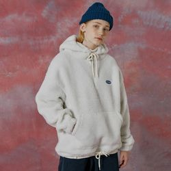 N Original small logo fleece anorak-ivory