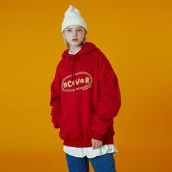 N Original foaming printing hoodie-red