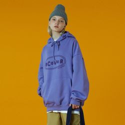 N Original foaming printing hoodie-light purple
