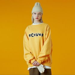 N Signature patch logo sweatshirt-yellow