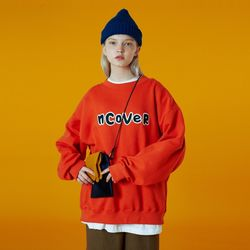 N Signature patch logo sweatshirt-orange
