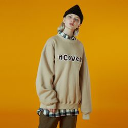 N Signature patch logo sweatshirt-beige