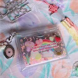 러브 클럽 글리터 카드 지갑