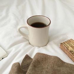 모던뉴욕 브라운머그컵 (커피잔 홈카페용)