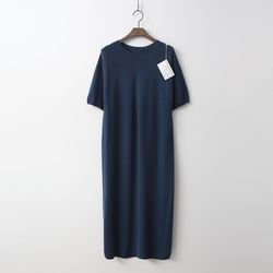 Laine Wool N Cashmere Long Dress - 반팔