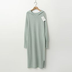 Laine Wool N Cashmere Hood Long Dress - New
