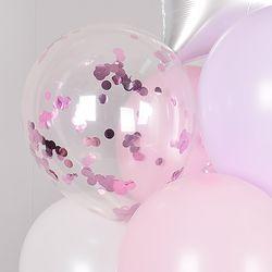 30cm 컨페티벌룬 은박 핑크 5입
