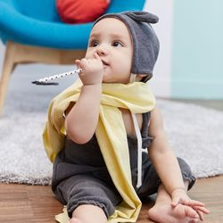 유아 아기 무형광 오가닉 순면 거즈 머플러 목도리