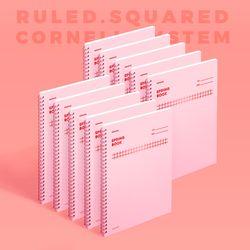스프링북 컬러칩 - 로즈쿼츠 (스퀘어드) 10EA
