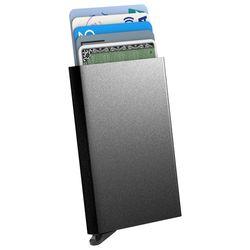 스킨즈 메탈 슬라이드 신용카드 홀더 케이스 (블랙)