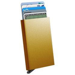 스킨즈 메탈 슬라이드 신용카드 홀더 케이스 (골드)