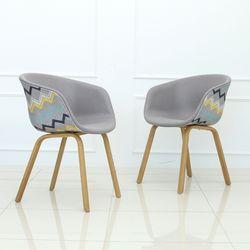 리버스 패턴 체어 인테리어 식탁 카페 의자