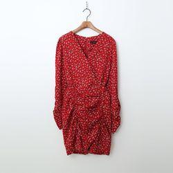 Flower Shirring Mini Dress