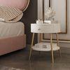 아파트32 홈 골드 철제 엘르 침대 협탁 사이드테이블