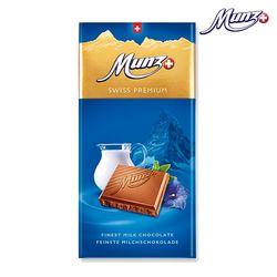 문츠 초콜릿 스위스 프리미엄 밀크바 100g