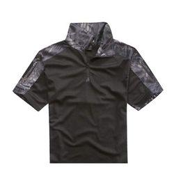[위에마이] 신형 반팔 컴뱃 셔츠 (스네이크 카모 블랙)