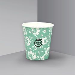 친환경 6.5온스 일회용 자판기 종이컵 너는꽃 - 500개