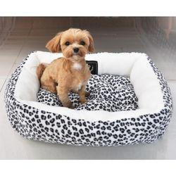 강아지쿠션 방석 도그포즈 레오파드 사각방석(대)