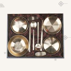 호담 K3757RA 방짜유기 칠첩반상기 선물세트