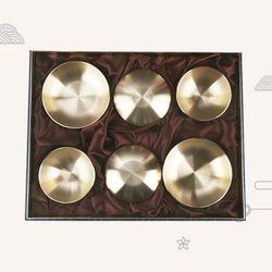 호담 K3755RA 방짜유기 2인 반상기 선물세트 5호