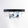 우드 스트림 4P 메탈 클립 사진 그림 걸이 800-블랙