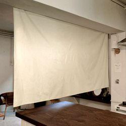 블랭크 광목 가로형 패브릭파티션 .  패브릭 가벽 (RM 253001)