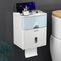 욕실수납 서랍형 휴지 디스펜서(블루)