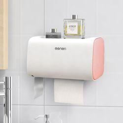 욕실수납 더블 휴지 디스펜서(핑크)