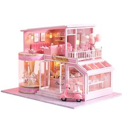 [adico]DIY 미니어처 풀하우스 - 핑크 회전목마