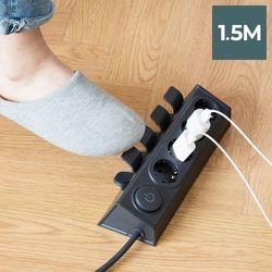 라이프썸 이지클릭 멀티탭 4구 1.5M (LFS-HA20) 다크그레이
