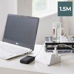 라이프썸 무선충전 USB 멀티탭 2구 1.5M (LFS-HA22) 화이트