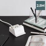 라이프썸 무선충전 USB 멀티탭 2구 2.5M (LFS-HA23) 화이트