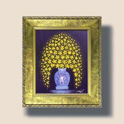 꽃피는향기 꽃그림 그림액자 인테리어 그림액자 3호