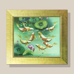 풍수지리 그림액자 부자되는그림 잉어 그림 G형 12호