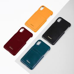 FENNEC LEATHER iPHONE XR CARD CASE (4COLOR)