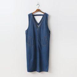 Alexa Denim Long Dress