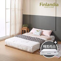 핀란디아 베네 원목깔판 Q침대+드림온21 매트리스