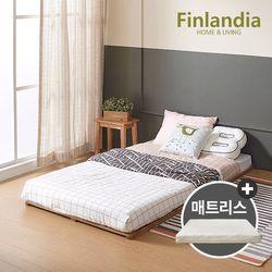핀란디아 베네 원목깔판 SS침대+플레이포켓 매트리스