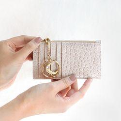 D.LAB [탄생석키링] Elly zipper wallet - 4color