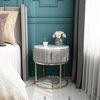 골드 철제 마블 드레스 침대 협탁 서랍형테이블
