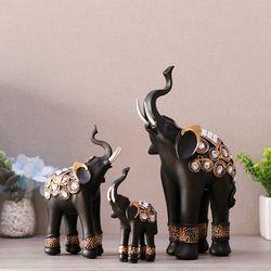 블랙골드 코끼리장식품 OEL008 3P SET 인테리어장식품