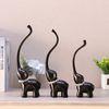 블랙 큐빅 코끼리장식품 OEL009 3P SET 인테리어장식품
